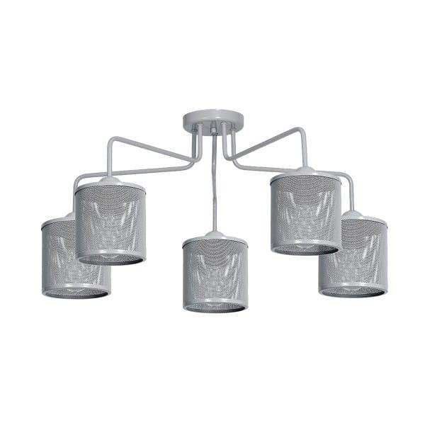 Deckenleuchte Grau LOUISE GREY 60W E27 5-flammig