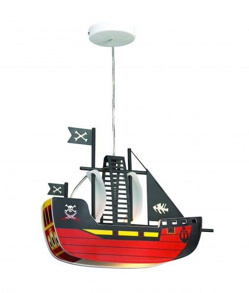 Kinderzimmerlampe Bunt Piratenschiff E27