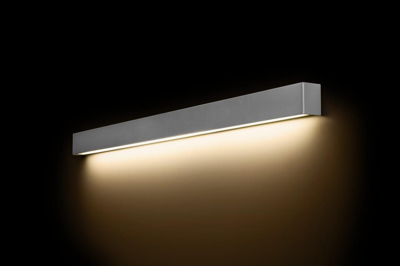 LED Wandleuchte STRAIGHT silber