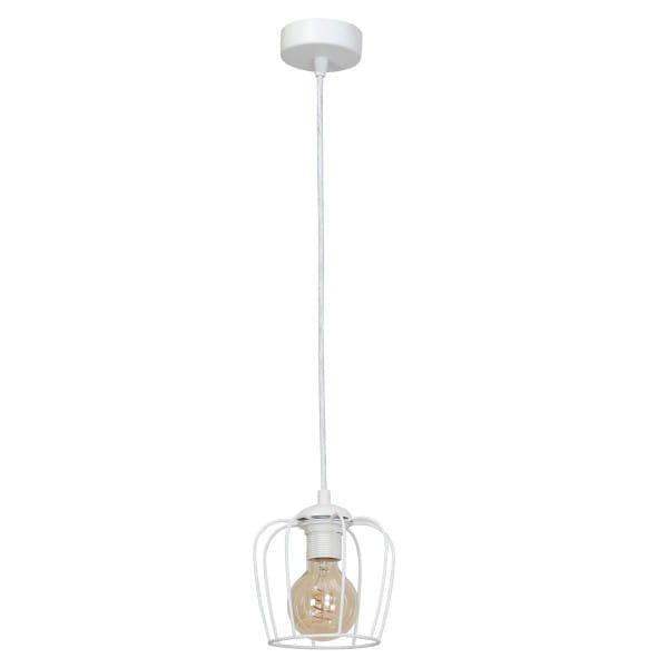 Pendelleuchte Weiß VINTAGE 60W E27 1-flammig