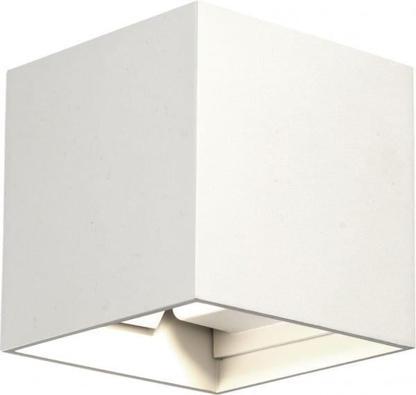LIMA Außenwandleuchte modern Aluminium/Kunststoff weiß Außenlampe Wandlampe LED-Board 6W