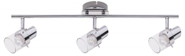 LED Deckenleuchte 13,5W 1080lm chrom warmweiß 3000K