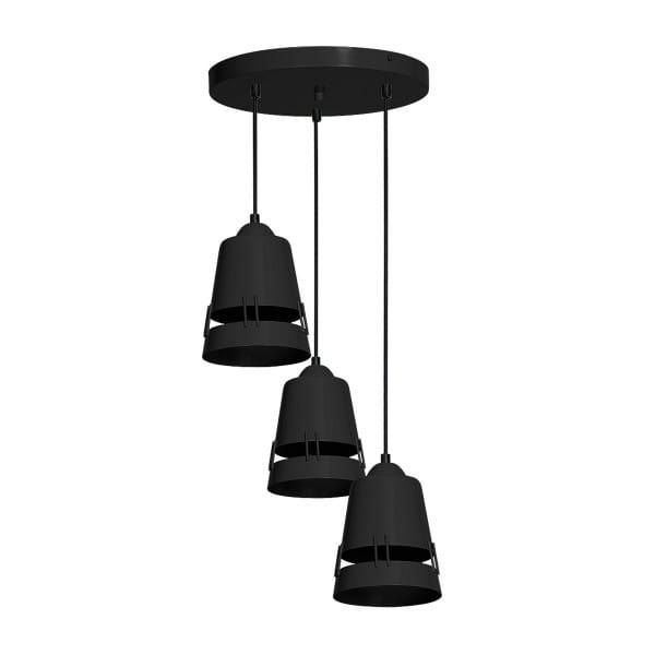 Pendelleuchte APOLLO BLACK schwarz aus Metall 35cm