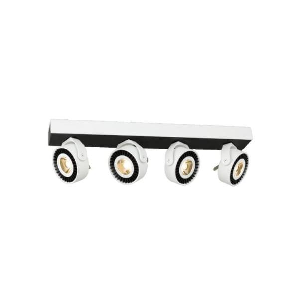 LED Deckenleuchte TECHNO weiß/schwarz aus Stahl Balken