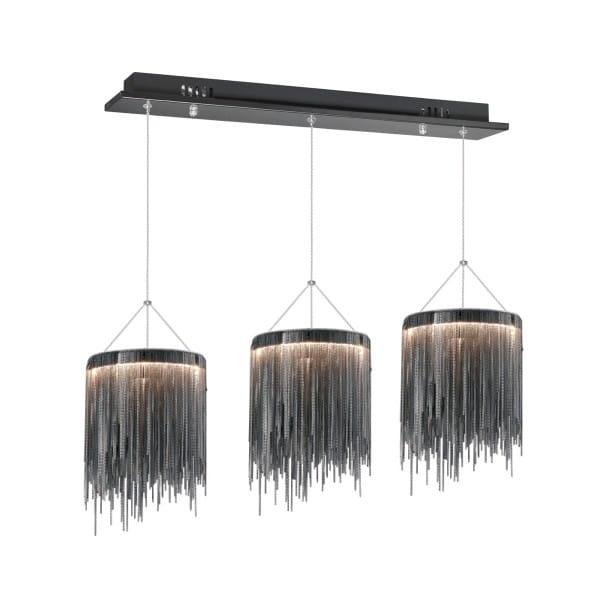 LED Pendelleuchte CASCATTA BLACK schwarz 3-flammig 20cm