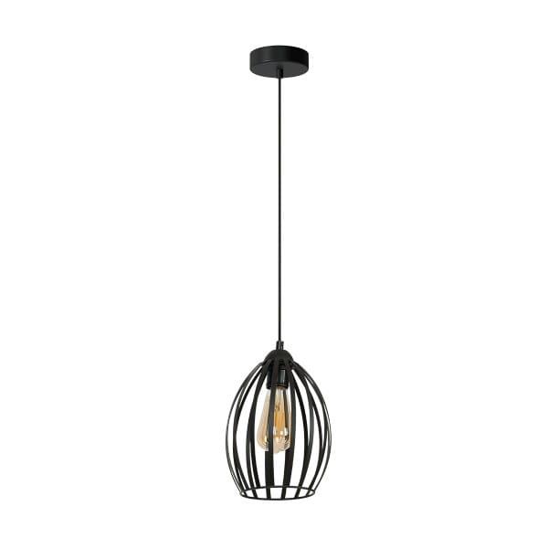 Pendelleuchte Schwarz RUSSEL BLACK 60W E27 1-flammig