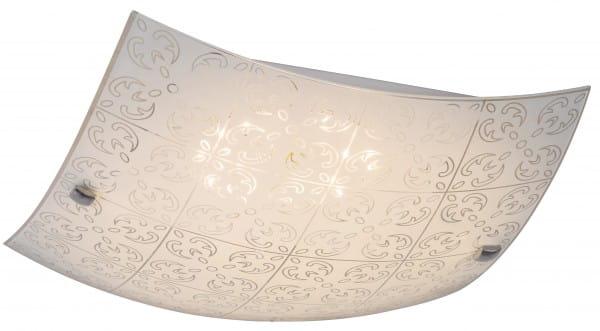LED Deckenleuchte weiß 18W Haley Metall/Glas 3000K warmweiß 1440lm