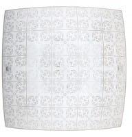 LED Deckenleuchte weiß 12W Haley Metall/Glas 3000K warmweiß 960lm