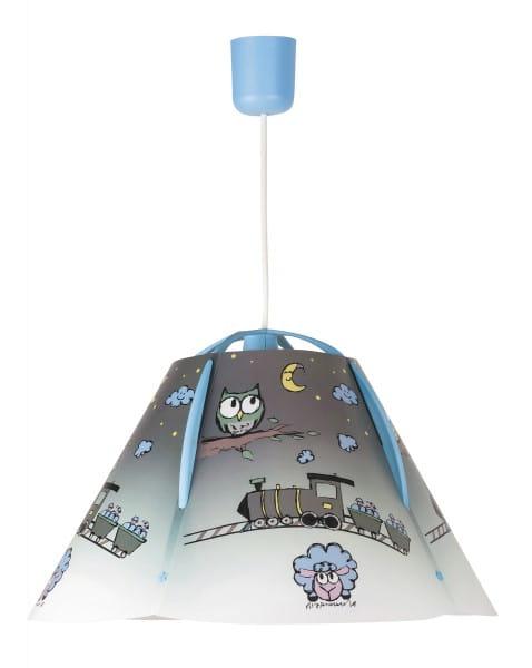 Kinderzimmerlampe blau Eule 1 flammig E27