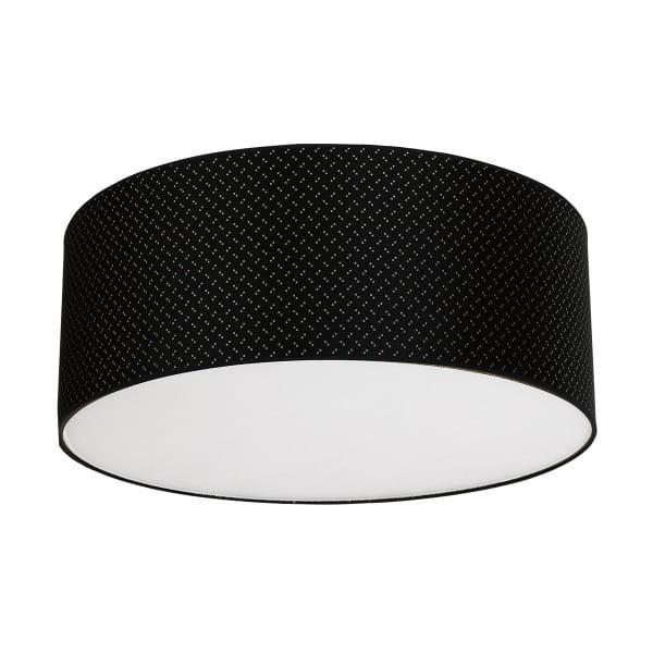Deckenleuchte AURORA schwarz aus Metall/Stoff 70cm