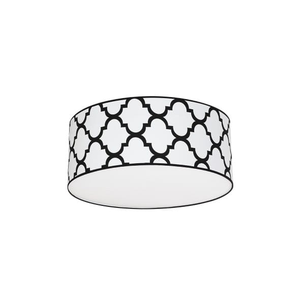 Deckenleuchte PIERRE WHITE weiß/schwarz 50cm
