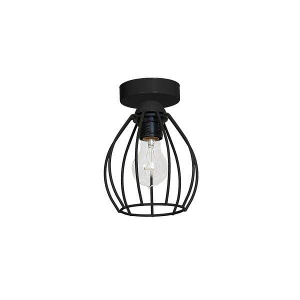Deckenleuchte Schwarz DON BLACK 60W E27 1-flammig