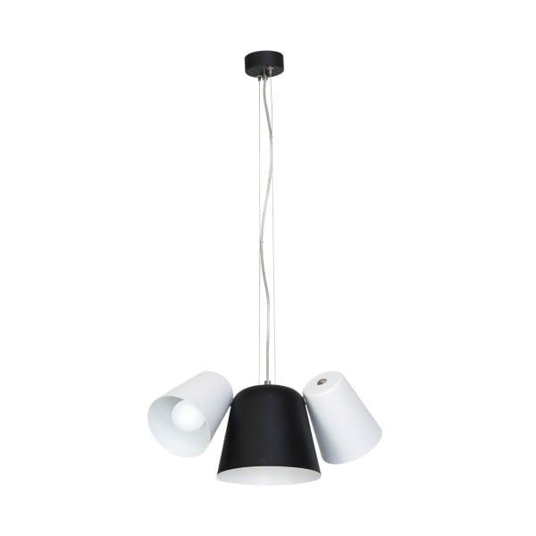 Pendelleuchte Weiß/Schwarz ANDREA 60W E27 3-flammig