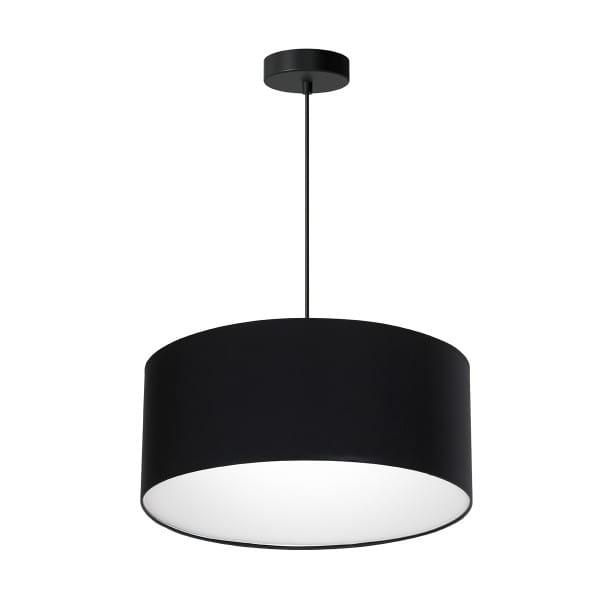 Pendelleuchte BARI BLACK schwarz aus Metall/Stoff 50cm