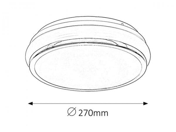 Christen Deckenleuchte modern Metall/Kunststoff chrom/weiß Deckenlampe LED-Board 13,2W
