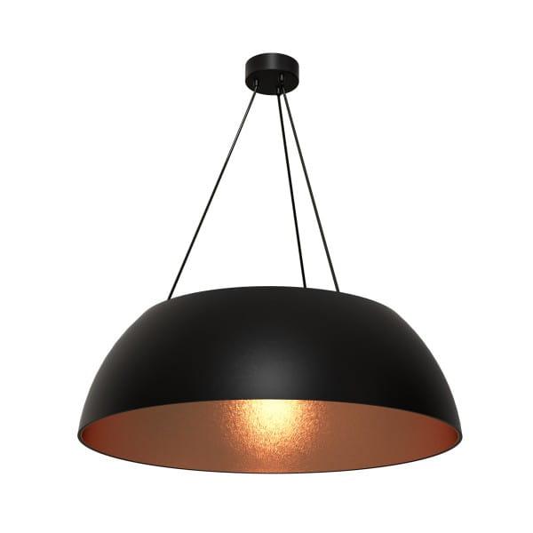 Pendelleuchte rosé gold/schwarz MORGAN 60W E27 3-flammig