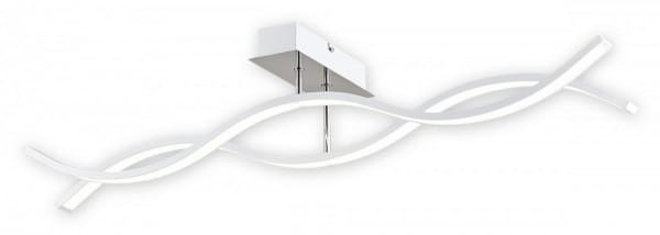 LED Deckenleuchte weiß/chrom 28,8W 2 flammig