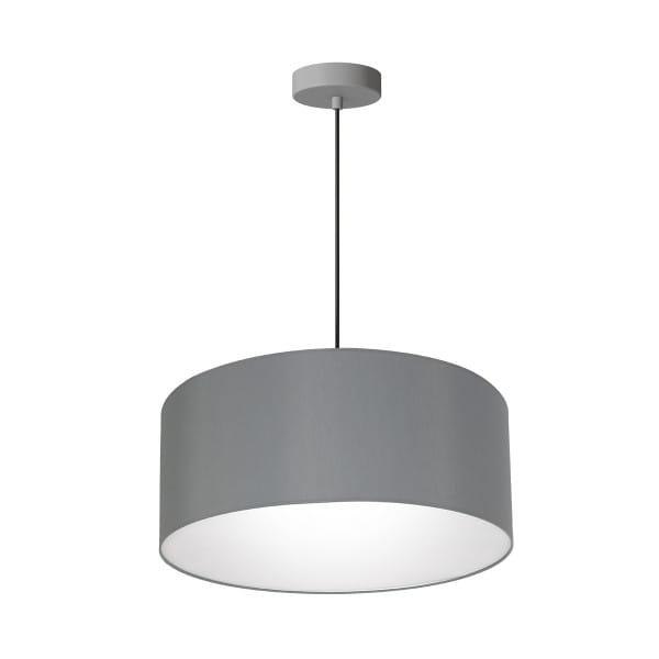Pendelleuchte BARI GREY grau aus Metall/Stoff 50cm
