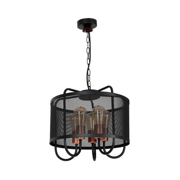Pendelleuchte Schwarz CORK 60W E27 5-flammig
