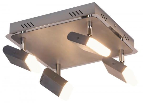 LED Deckenleuchte 20W 1280lm chrom warmweiß 3000K