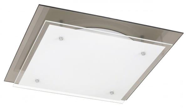 LED Deckenleuchte weiß 24W Janice Metall/Glas 3000K warmweiß 1920lm