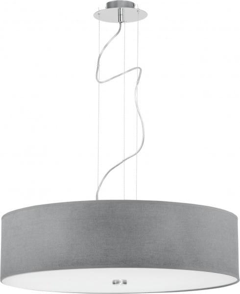 Pendelleuchte aus Glas grau 3 flammig E27 VIVIANE