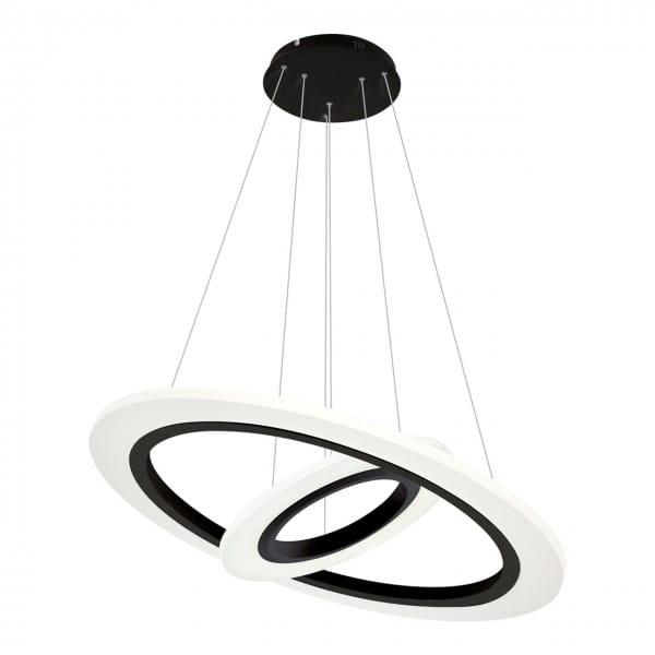 LED Pendleuchte COSMO weiß/schwarz aus Metall Ø500mm