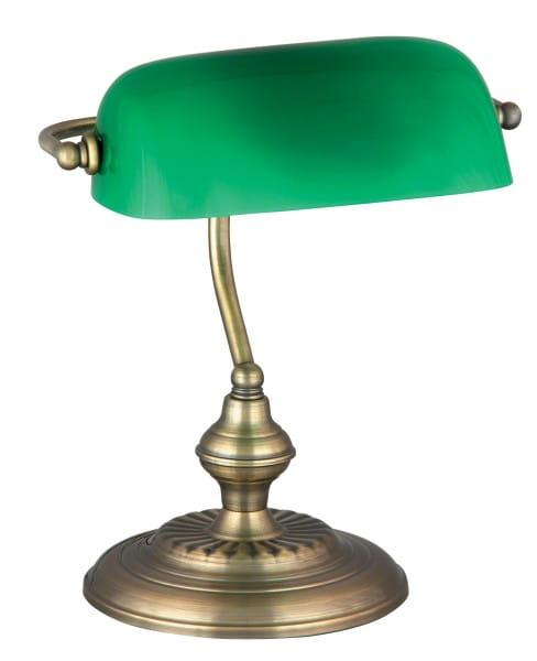 Bank Tischleuchte bronze / grün