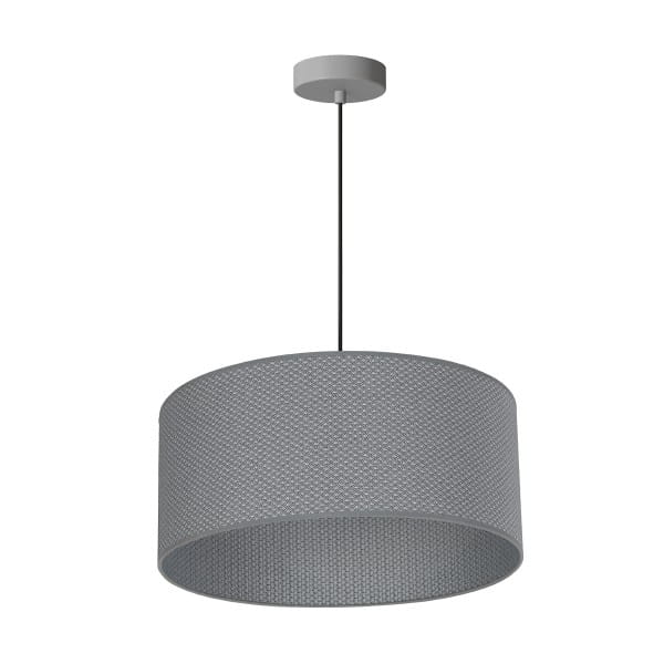 Pendelleuchte BELVEDERE grau aus Metall/Stoff 50cm