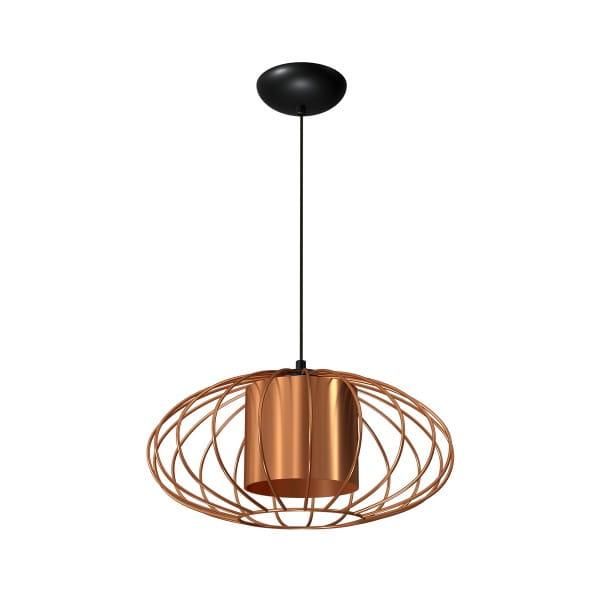 Pendelleuchte Kupfer/Schwarz COBRE 60W E27 1-flammig