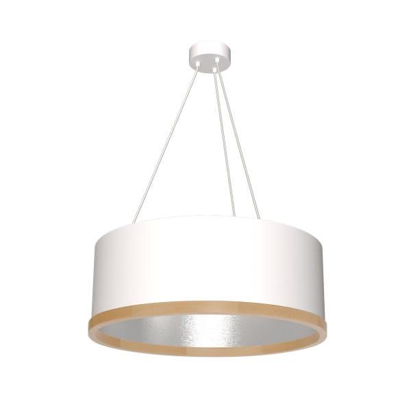 Pendelleuchte OLIVER weiß/grau aus Metall/Holz 70cm