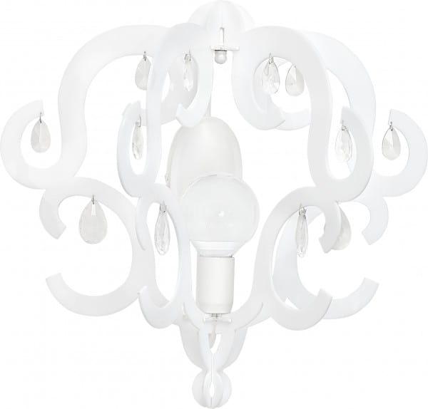 KATERINA Wandleuchte modern Metall/Kunststoff weiß Wandlampe E27 60W
