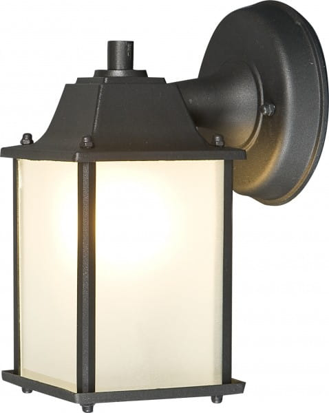 SPEY Außenwandleuchte klassisch Aluminium/Glas schwarz/gold/weiß Außenlampe Wandlampe E27 60W