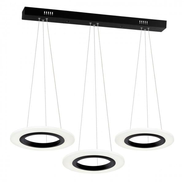 LED Pendleuchte COSMO weiß/schwarz aus Metall 1000mm