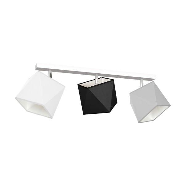 Deckeneuchte FRANK grau/weiß/schwarz aus Metall/Stoff am Balken