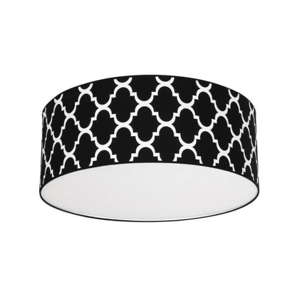 Deckenleuchte PIERRE BLACK schwarz/weiß 70cm