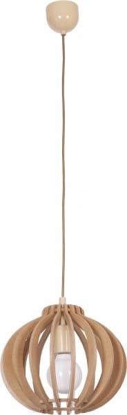 Buchefarbene Pendelleuchte Holz E27