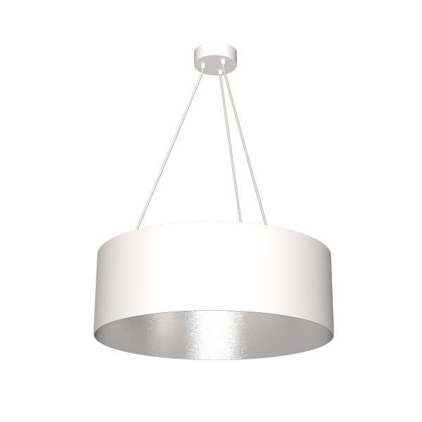 Pendelleuchte ROBIN weiß/grau aus Metall/Harz 70cm