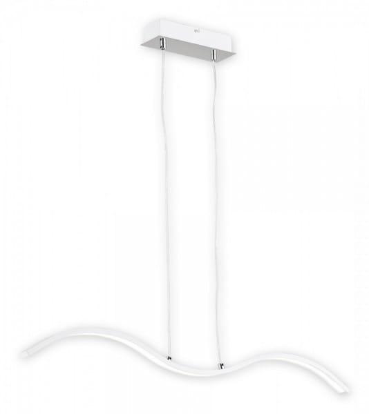 Pendelleuchte Esstisch weiß/chrom modern 1 flammig LED