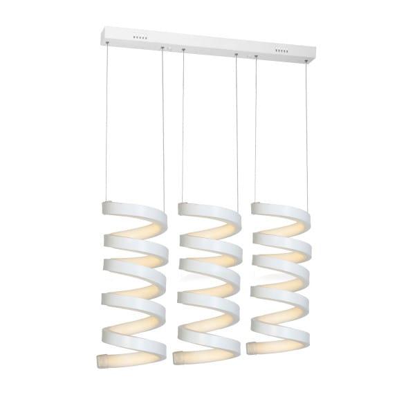 LED Pendelleuchte TWIST Weiß 18 1260lm