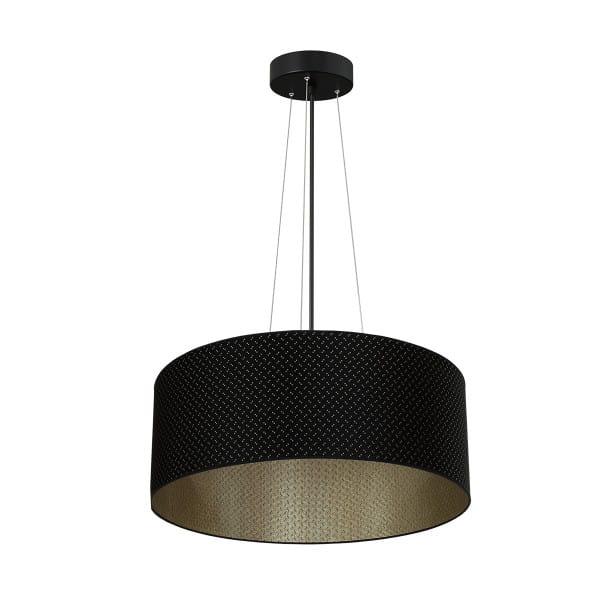 Pendelleuchte AURORA schwarz aus Metall/Stoff 70cm