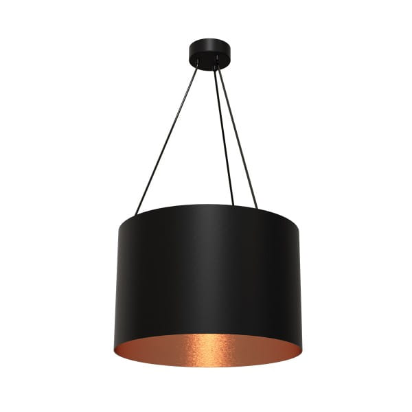 Pendelleuchte ROBIN schwarz/rosé gold aus Metall/Harz 50cm