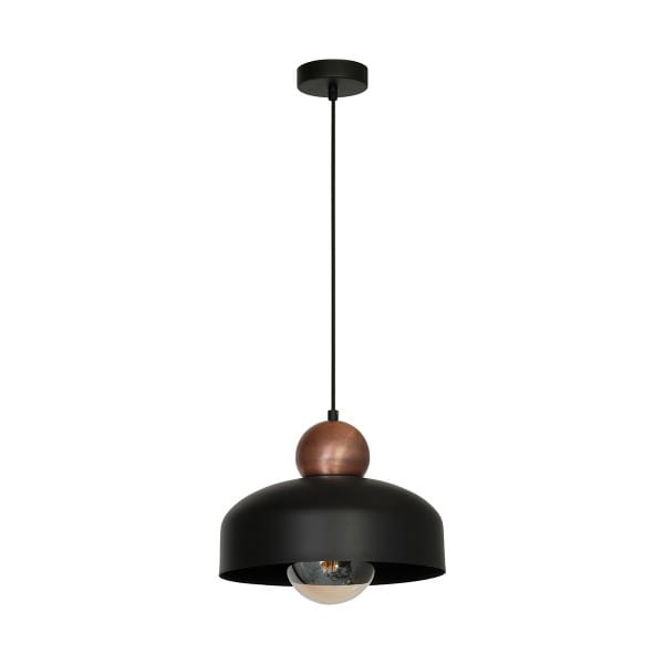 Pendelleuchte Schwarz HARALD BLACK 60W E27 1-flammig