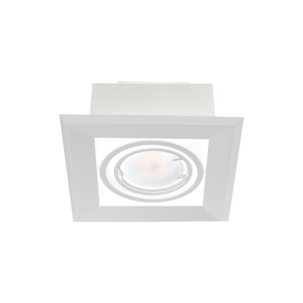 LED Einbauleuchte BLOCCO weiß aus Metall 1-flammig 120mm
