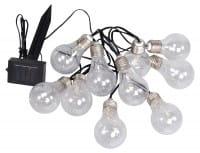LED Solar Lichterkette 10 Glühbirnen 380 cm lang