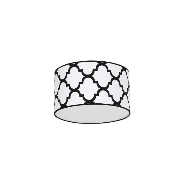Deckenleuchte Weiß/Schwarz PIERRE WHITE 60W E27 1-flammig