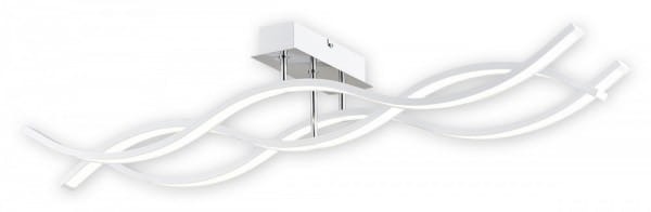 LED Deckenleuchte weiß/chrom 43,2W 3 flammig