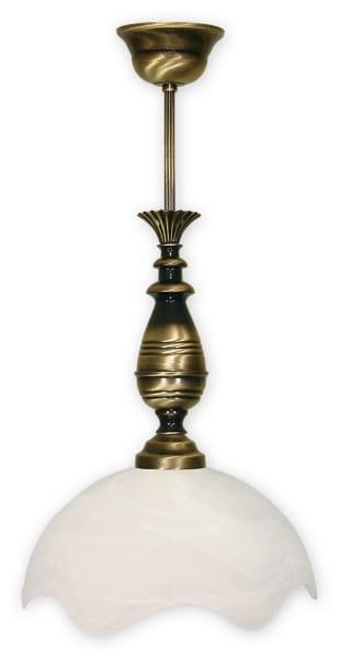 Pendelleuchte Glas alabaster weiß 1 flammig E27 Fuks