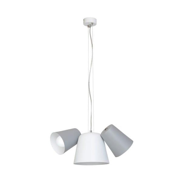 Pendelleuchte Grau/Weiß ANDREA 60W E27 3-flammig