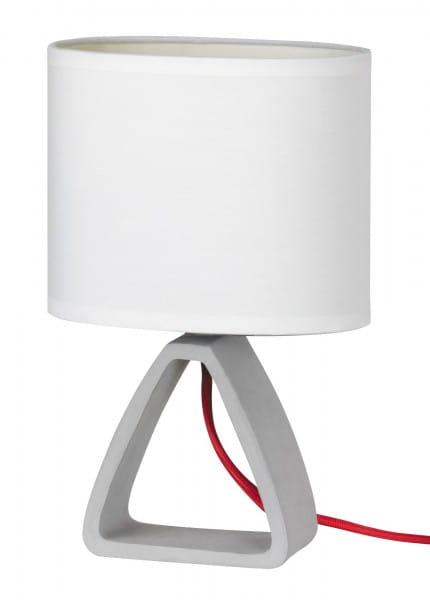Tischlampe modern beton/weiß E14 Henry